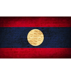Flags laos with dirty paper texture vector