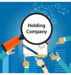 Holding company types of business corporation vector