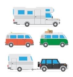 camper car set vector image