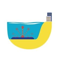 Alternative energy water turbine vector