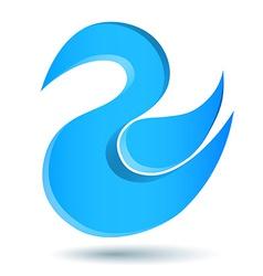 Blue twitter bird logo vector