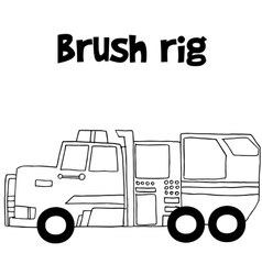 Brush rig with hand draw vector image vector image