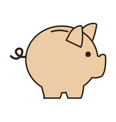Business piggy bank money safety vector