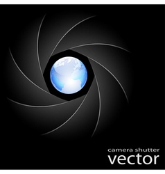 camera shutter vector image vector image