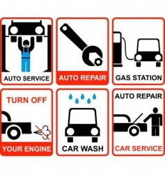 car service signs vector image