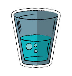 Cartoon glass water fresh icon vector