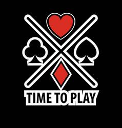 casino poker logo template gamble play cards vector image vector image