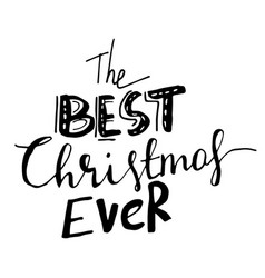 Christmas hand lettering signature vector