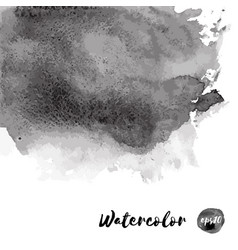 Dark black watercolor texture vector