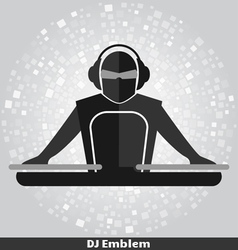 DJ Emblem copy vector image