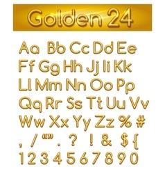 Golden 24 Alphabet vector image vector image