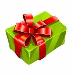 greed gift box isolated vector image vector image