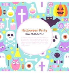 Halloween party trendy background vector