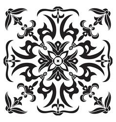 Hand drawing decorative tile pattern italian vector
