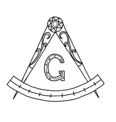 Masonic freemasonry emblem vector