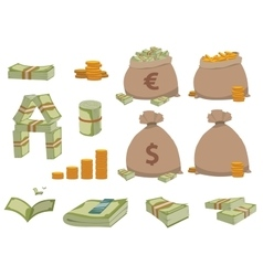 Money symbols set vector image