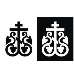 orthodox cross vector image