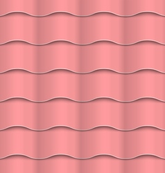Paper pink seamless wavy pattern vector
