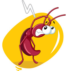 Scared cockroach insect cartoon vector