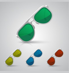 Sunglasses color vector