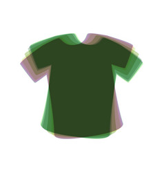 t-shirt sign colorful icon shaked with vector image vector image