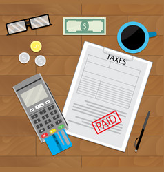 Tax paid document vector