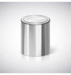 Tin closeup with reflection vector