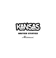 United states kansas missouri city graffitti font vector
