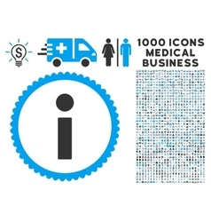 Info icon with 1000 medical business pictograms vector