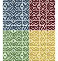 Seamless islamic moroccan pattern set arabic vector