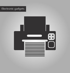 black and white style icon printer vector image