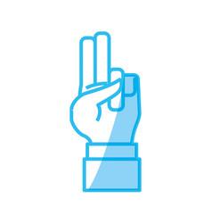 Hand number symbol vector
