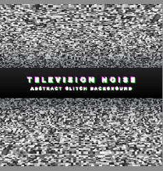 Television noise black perspective background vector