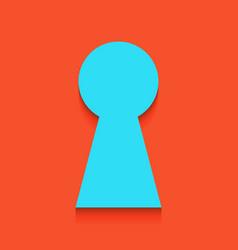 Keyhole sign whitish icon on vector