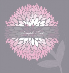 floral peony background vector image