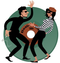 Beatniks vector