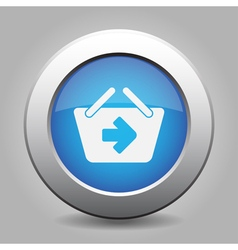 Blue button - shopping basket next vector