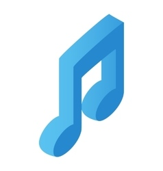 Music note isometric 3d icon vector