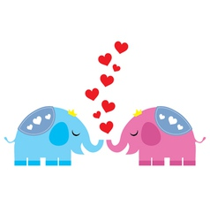 Elephant in love vector