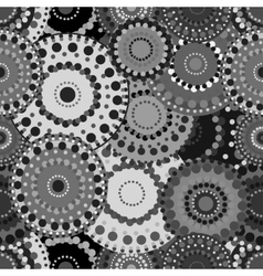 Mechanical seamless pattern black white gray vector