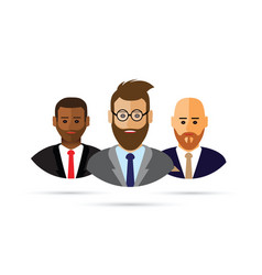 A cartoon business people icon vector