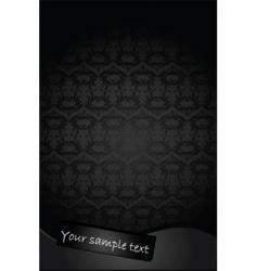 antique vintage black background vector image