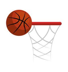 Basketball sport ball isolated icon vector