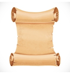 Big scroll of parchment for your design isolated vector