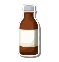 Bottle syrup isolated icon vector
