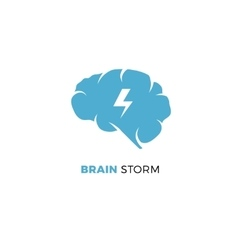 Brainstorming creative idea smart cloud vector
