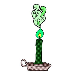 comic cartoon spooky candle vector image