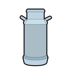 cow milk can icon vector image