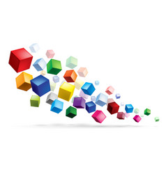 Cubes in various combinations abstract for design vector