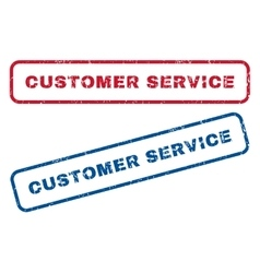Customer service rubber stamps vector